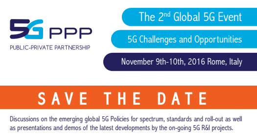 Save the date-2nd 5G event